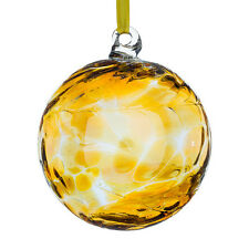 Archangel Uriel (Amber) 10cm Glass Angel Orb With Gift Box By Sienna