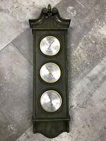 Vintage Verichron Weather Station Thermometer Barometer Hygrometer UNIQUE!