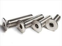 M2 M3 M4 M5 M6 Stainless Steel Allen Flat Head Socket Cap Screws Assortment Kit