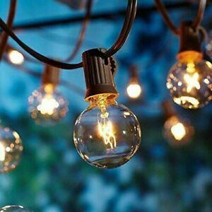 25FT 50FT G40 Globe Bulbs Outdoor Garden Festoon String Light Patio Party Decor