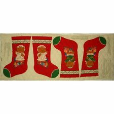 Cranston 'A Beary Merry Christmas' Quilted Fabric Panel Sewing Stockings Holiday
