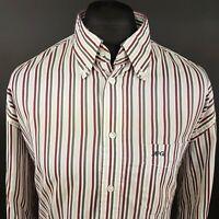 McGregor Mens Shirt 2XL Long Sleeve Multicoloured Regular Fit Striped Cotton