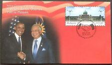 M'sia FDC commemorative cover US President Obama's visit  to M'sia 26.4.2014