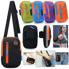Sport Armband Running Jogging Wrist Pack Waist Shoulder Phone Pouch Bag Holder