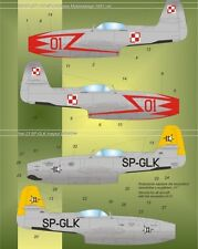 YAKOVLEV YAK 23 FLORA  - POLISH AF UNIQUE MARKINGS 1/48 MODELMAKER pzl