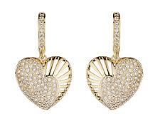 Orecchini a Clip-in ORO orecchino cuore con zirconi pietre-Nafisa G