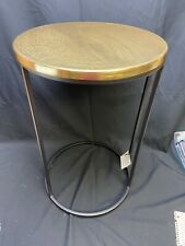 Project 62 Accent Table - black Metal W Gold top