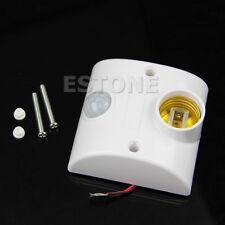 Home E27 Infrared Motion PIR Sensor Automatic LED Light Lamp Holder Switch Alarm