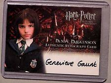 Harry Potter-POA-Authentic-Autograph Card-Genevieve Gaunt-Pansy Parkinson