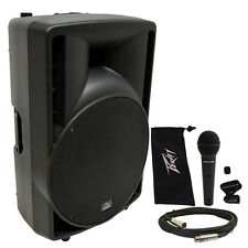 "Harmony Audio HA-C15A Pro DJ 15"" Powered 1000W Active PA Speaker & Peavey PV Mic"