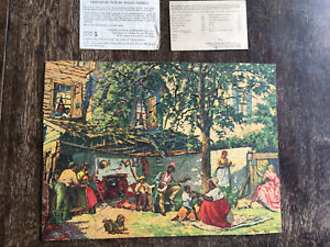 """Vtg Viking Weekly Picture Puzzle """"The Ole Kentucky home"""" Silver Lining, Backyard"""