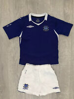Boys kids Everton home football kit size 4-5 years Umbro