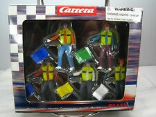 NEW CARRERA Slot Car CORNER MARSHALS Flag Man Marshal Figures In Box -- SET OF 5