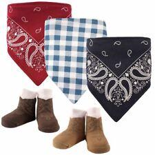 Hudson Baby Boy Bandana Bib and Socks, 5-Piece Set, Boy Western