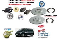 Für Hyundai i800 2.5 Crdi 2008- > Front + Bremsscheiben Set Hinten+Beläge+Schuhe