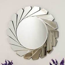 Large Modern Design Round Sophisticated Sunburst Venetain Wall Mirror 2Ft8 80cm
