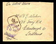 1943 British Indian Forces Cover Banglore to Scotland - L5464