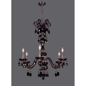 Classic Lighting Monte Carlo Crystal Chandelier, Black - 82006CBK
