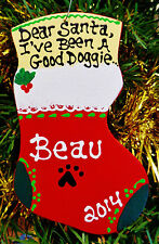 U CHOOSE NAME & YEAR Personalized DOG ORNAMENT Christmas Pet Groomer Kennel
