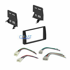 Car Stereo Double DIN Dash Kit Harness Combo for 2002-2006 Toyota Camry