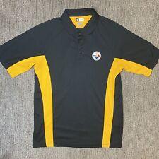 NFL Team Apparel Pittsburgh Steelers Short Sleeve Polo Golf Shirt Men Large