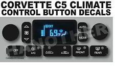 1997-2004 C5 CORVETTE CLIMATE CONTROL BUTTON DECAL STICKER