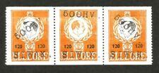 Denmark Elleore local 1965 Erik Ii strip of 3 500Hv Siwak ovpts Mnh ex Jim Czyl
