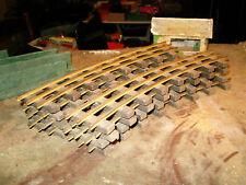 BLZ 8 courbes traverses bois , profilés laiton en TBE