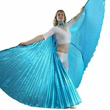 Danzcue Solid Turquoise Belly Dance Worship Angel Wings With Sticks