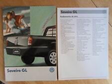 VOLKSWAGEN BRAZIL SAVEIRO GL orig 1998-99 Glossy Sales Brochure + Specs - VW