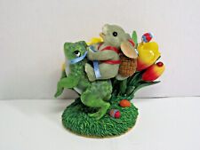 Fitz and Floyd Charming Tails Hoppin Down the Bunny Trail mouse riding frog
