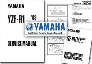 Yamaha YZF R1 Service Manual 1998 1999 2000 2001 Workshop Shop YZF1000  YZF-R1
