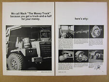 1964 Mack M-65X M65X Dump Truck 7x photo vintage print Ad