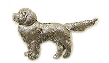 Nova Scotia Duck Toller Brooch, Silver Finish