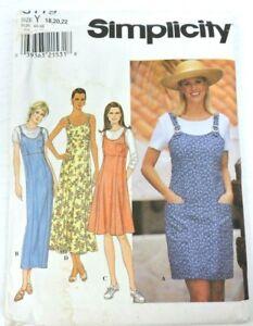 Simplicity 8119 Women Sewing Pattern Size 18-22 Dress Jumper Uncut