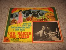 "LAS RAICES DEL CIELO POSTER (THE ROOTS OF HEAVEN) ~ ERROL FLYNN (SPAIN) 12""X 16"""