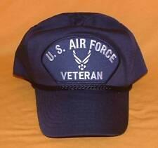 8851b517f48 New ListingUS Air Force Veteran Wing Logo Emblematic High Crown Black  Military Ball Cap.
