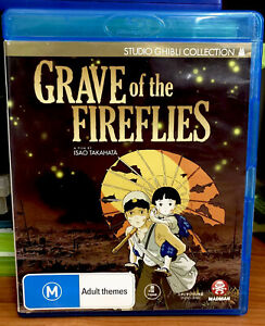 Grave of the Fireflies BLU-RAY Very Good Cond With Manual Fast Post 🇦🇺Seller