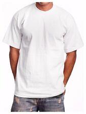 Men's T-Shirt BIG & TALL HEAVY WEIGHT Crew Plain Short Sleeve Sports Active GYM