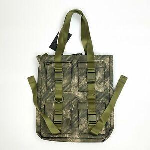 Nike Pocket Printed Tote Bag Camo Print BA6378 Olive Canvas Black Army