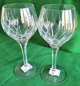 Stuart Crystal Cut Glass Wine / Hock Glasses Discontinued Design Vintage