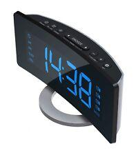 Radiowecker mit UKW Radio XXL Display 4 Weckzeiten Design Uhrenradio ROXX CR301