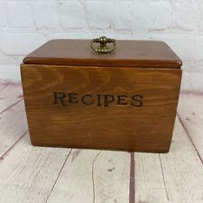 Vintage Solid Wood Brown Recipe Box With Lots Of Great Recipes From A KY Kitchen