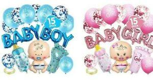 Baby Boy Ballon Set Junge Babyshower Babyparty Geschenk Geburt Deko blau rosa