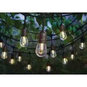 NEW!!  HAMPTON BAY 24-Light Indoor/Outdoor 48 ft. String Light with  LED Bulbs