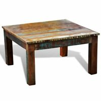 Reclaimed Wood Modern Handmade Coffee Table Furniture Square Coffee Tea Table