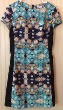 Xhilaration Women's Dress Multicolor Career /Summer P/S Zips in back knee length