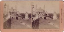 Trocadero Paris STEREO Stereoview Vintage argentique 1896