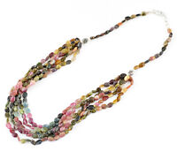 TRUELY AWESOME QUALITY 258.20 CTS NATURAL WATERMELON TOURMALINE BEADS NECKLACE