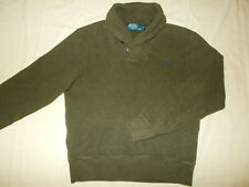 RALPH LAUREN OLIVE GREEN SHAWL COLLAR SWEATER MENS SMALL EXCELLENT CONDITION